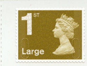 2009 GB - Single 1st Lge Gold (W) from RB2 Bk of 4 (FOYAL) MNH