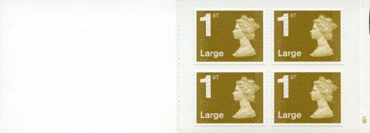 2009 GB - RB2 - 4 x 1st Large Gold Security Bk (FOYAL) Plain