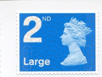 2009 GB - SGU2933 2nd Lge Blue (W) Single from RA2 Bk of 4 MNH