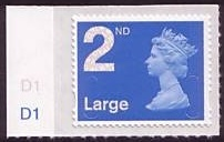 2009 GB - SGU2977 (UJD4) 2nd Large Blue (D) CYL Single D1 MNH