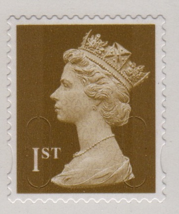 2009 GB - Single 1st Gold (W) from MF5a Bk of 12 (MTIL) MNH