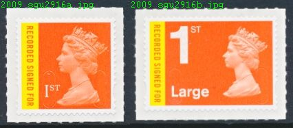 2009 GB - SGU2981-2982 1st Recorded x 2 Different MNH