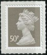 2009 GB - SGU2911 (UJD6) 50p (D) Grey Self Adhesive Marginal MNH
