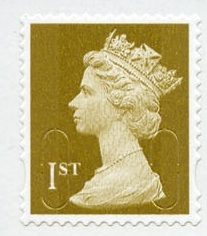2010 GB - SG2968(10) 1st Gold (W) from MF5b Bk of 12 (MA10) MNH