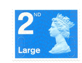 2010 GB - Single 2nd Lge Blue (W) from RA2a Bk of 4 (MFIL) MNH