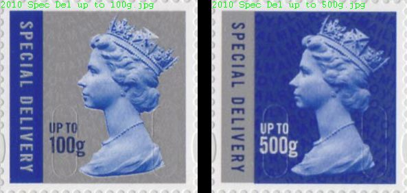 2010 GB - SGU2985-86 Special Delivery x 2 Different MNH