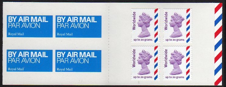 2010 GB - MJ3 £3.88 - 4 x Worldwide 20g (Plain)