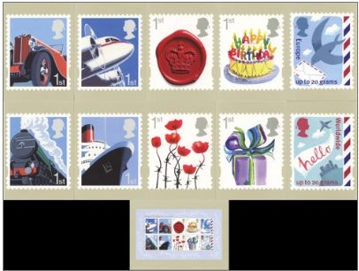 2010 GB - PHQ D31 - Smilers Business and Consumers Set (11) MNH