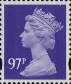 2010 GB - SGY1742 (U479) 97p 2B Mauve (D) from Sheet MNH