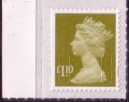 2011 GB - SGU2933 (UJD45) £1.10 Lime Green (D) 2B Marginal MNH