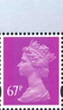 2011 GB - SGY1788 (UG128) 67p Amethyst (C) 2B from DX52 MNH