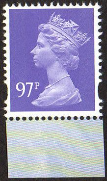 2011 GB - SGY1790 (UG157) 97p Bluish Violet (C) 2B from DX52 MNH