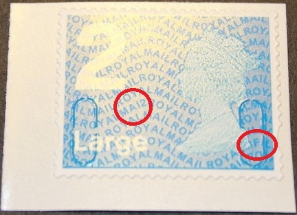2012 GB - SGU2970 2nd Lge Blue (W) Single from RA2d Bk of 4 MNH