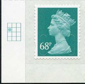 2011 GB - SGU2926 68p Sea Green (D) 2B Dot Blk Single M11L MNH