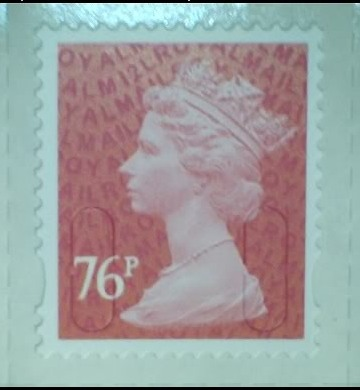 2012 GB - SGU2927 76p Brt Pink (D) 2B - M12L Counter Single MNH