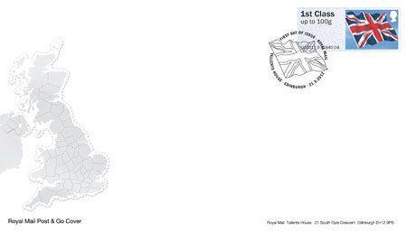 2012 GB - RM FDC - 1st Union Flag Post and Go - Swan (Addressed)