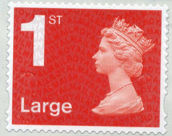 2013 GB - SGU2970 Single 1st Large (W) MA13 T2 from BS43b MNH