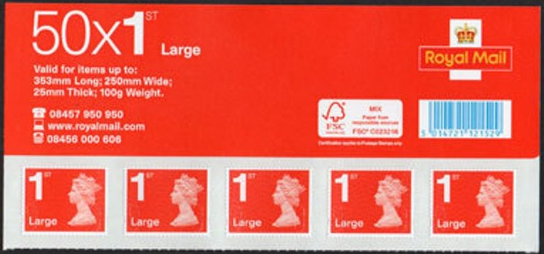 2013 GB - BS39a 1st Large Red (W) MBIL/MA12 SBB BS Top Panel (5)