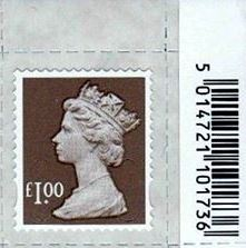 2014 GB - SGU2932-14F £1.00 Wood Brown M14L MTIL Frgery Code MNH