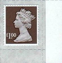2014 GB - SGU2932-14F £1.00 Wood Brown M14L MTIL Frgery RMrg MNH