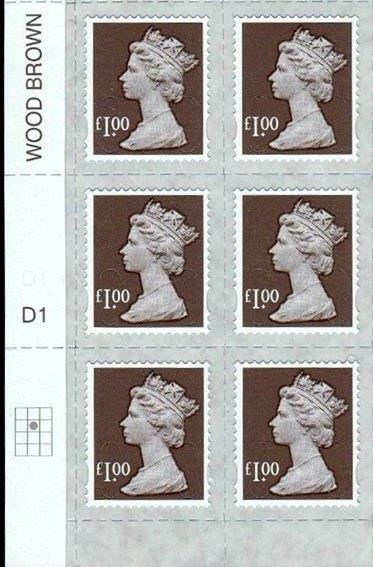 2014 GB - SGU2932-14F £1.00 Wood Brown M14L MTIL Forgery Cyl Blk