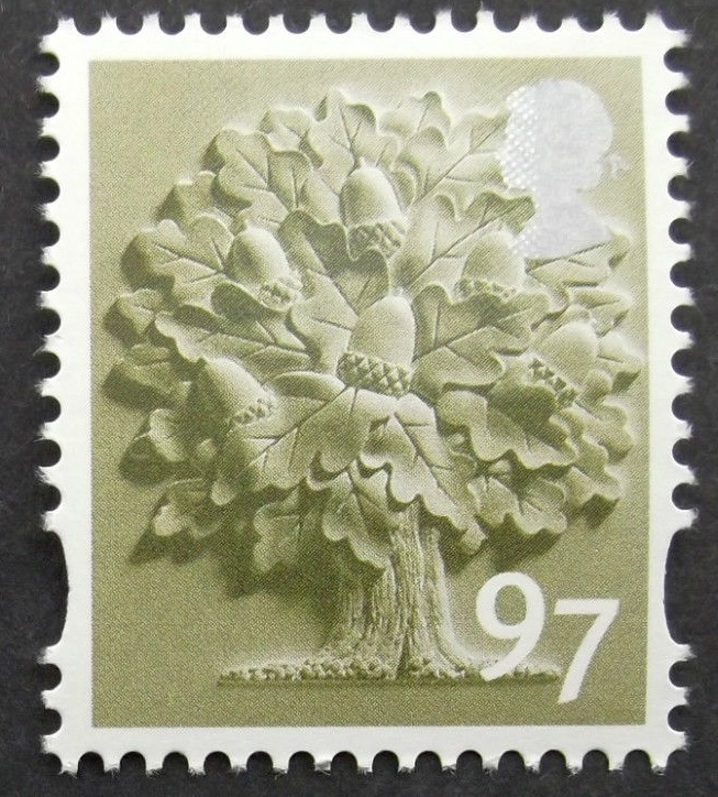 2014 GB - SGEN34 97p (C) Oak Tree Single MNH
