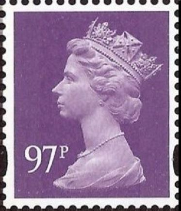 2015 GB - SGU3020a 97p Purple (C) 2B S/A M14L from DY12 MNH