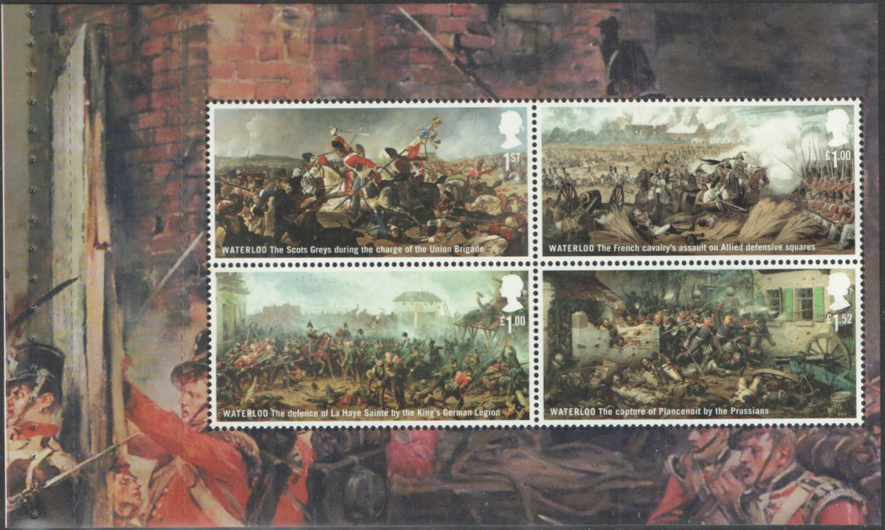 2015 GB - SG3724a - Battle of Waterloo Pane 2 from DY14 MNH