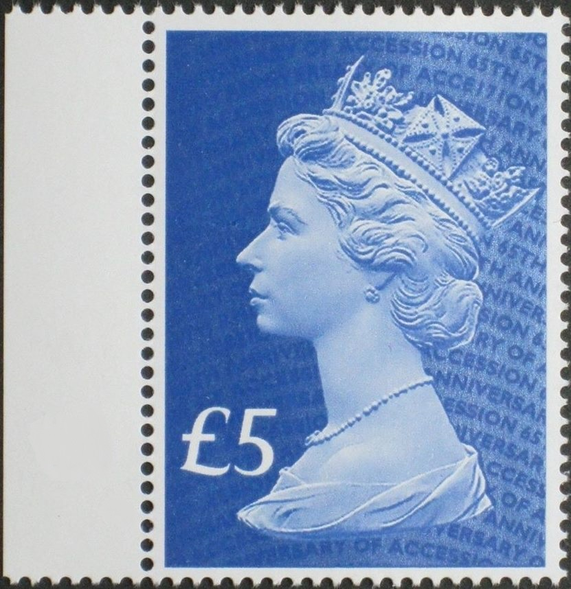 2017 GB - SGUxxxx £5 Blue (W) 2B 65th Anniv of Access Mgnl L MNH