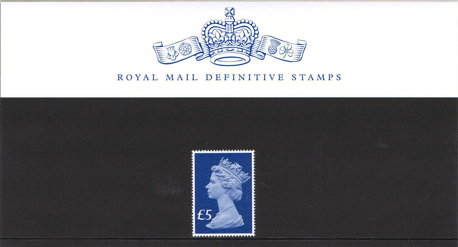 2017 GB - PPD130 £5 Blue (W) 2B 65th Anniv of Accessn Pres Pack