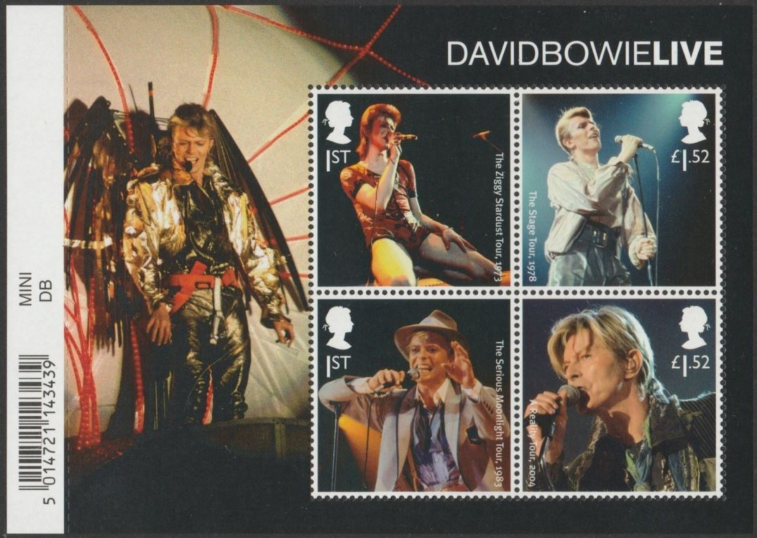 2017 GB - MS3939 - David Bowie Live MS with Bar Code MNH
