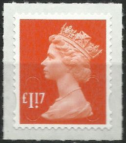 2014 GB - 2017.117.01 - £1.17 Sunrise Red (D) 2B M17L MNH