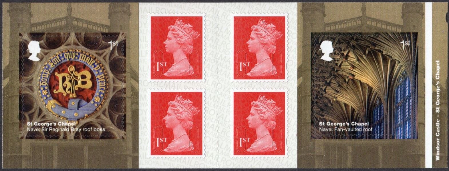 "2017 GB - PM55 Windsor (W) Mixed Bklt of 6 ""MCIL/M17L"" Plain"