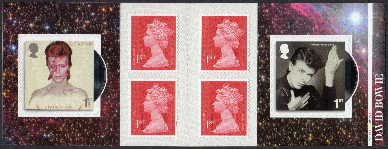 "2017 GB - PM56 D. Bowie (W) Mixed Bklt of 6 ""MCIL/M17L"" Cyl W1"