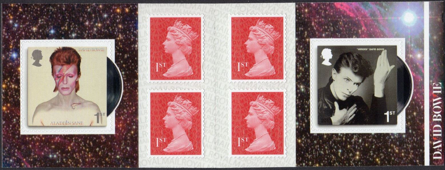 "2017 GB - PM56 D. Bowie (W) Mixed Bklt of 6 ""MCIL/M17L"" Plain"