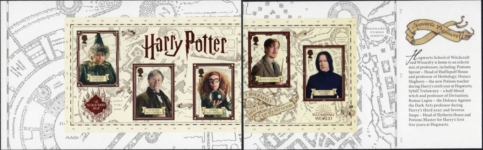 2018 GB - SG4164a-67a - Harry Potter Panes 4&5 - MS frm DY27 MNH