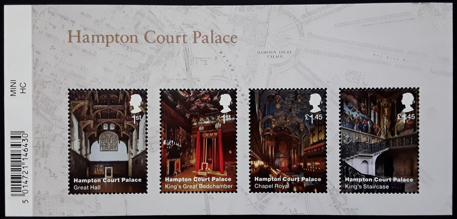 2018 GB - MS4115 - Hampton Court Palace MS (Barcoded) MNH