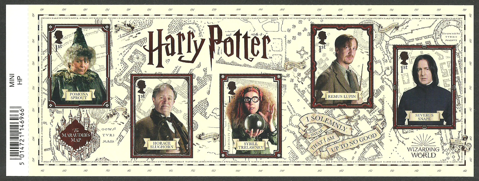 2018 GB - MS41xx - Harry Potter MS (Barcoded) MNH