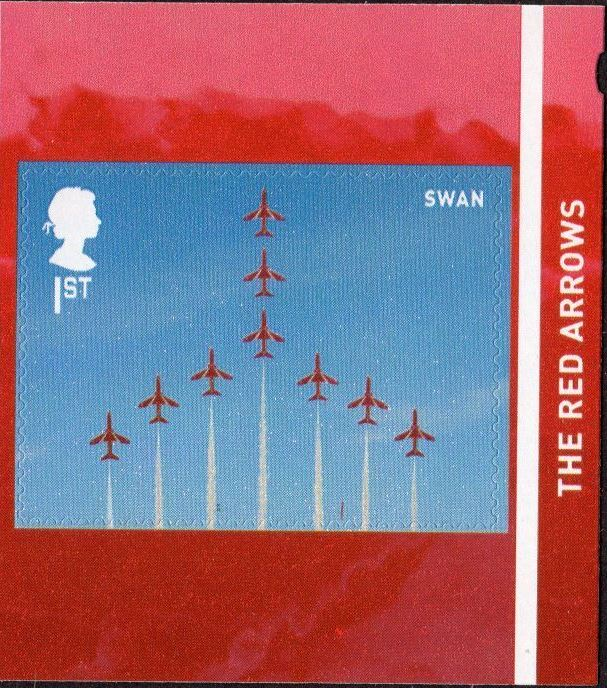 2018 GB - SG4081 - RAF Centenary Red Arrows Swan from PM60 MNH