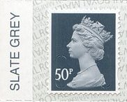 2020 GB - SGU2925-17 50p Slate Grey (W) M19L Colour Single MNH