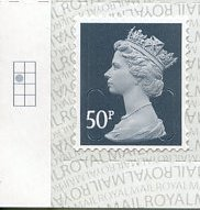 2020 GB - SGU2925-17 50p Slate Grey (W) M19L Box Single MNH