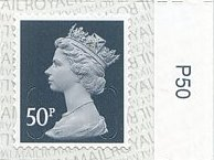 "2020 GB - SGU2925-17 50p Slate Grey (W) M19L ""P50"" Single MNH"