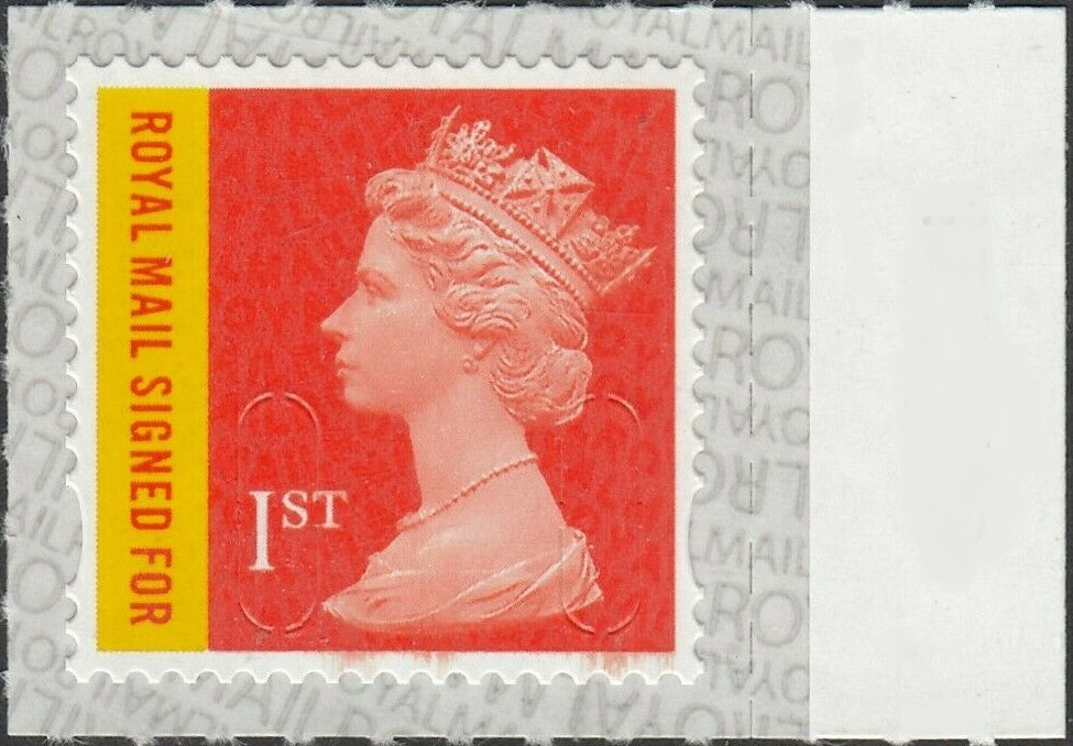2020 GB - SGU3049-19 1st RMSF (W) M19L Marginal Single MNH