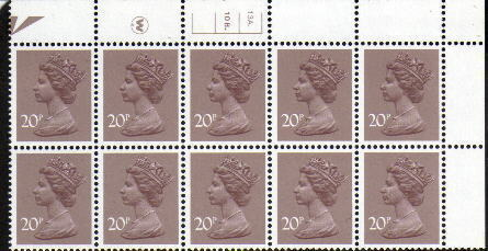 1983 GB - SGX999 (UG49-1) 20p Waddington CYL 13A10B Dot (10)