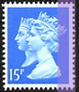 1990 GB - SG1468Ea (W790) 15p RB (H) Anniv from PB DX11 MNH
