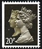 1990 GB - SG1469p 20p (H) Anniv (imperf left) MNH