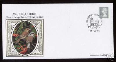 1996 GB - D260 - 29p Grey Fluor Change Enschedé Sheet (Benham)