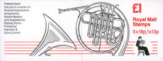 1986 GB - FH6 - Musical Instruments No 2 - French Horn Plain