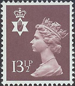 1980 GB - SGNI32 (XN42) 13½p Purple-Brown (H) PCP MNH