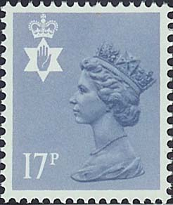 1984 GB - SGNI43 (XNL17) 17p Grey-Blue (Q) PCP Type 1 MNH